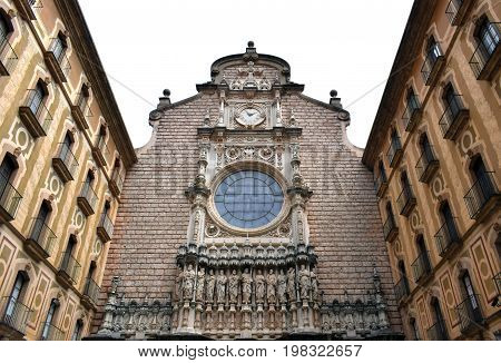Church and Montserrat's monastery place of interest in Barcelona Spain