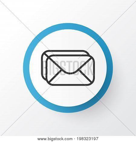 Premium Quality Isolated Mailbox Element In Trendy Style.  Inbox Icon Symbol.