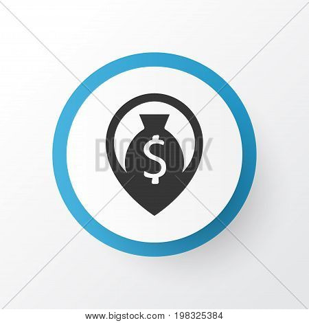 Premium Quality Isolated Navigation Element In Trendy Style.  Cash Icon Symbol.