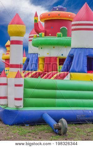 Jumping Castle, Playground For Kids With Slides