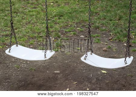 Swings For Children Under The Tree