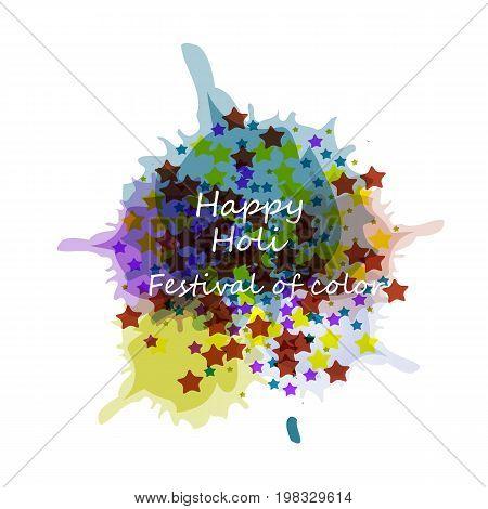 Beautiful card holi festival celebration colorful background. Beautiful Indian festival Happy Holi.