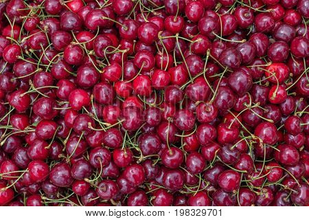 Farmers Market Cherry Background