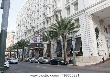 NEW ORLEANS, LA - APRIL 12: View of Hotel Le Pavillon in Downtown New Orleans, Louisiana, USA on April 12, 2014