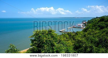 Ocean front view over Maputo bay in Mozambique