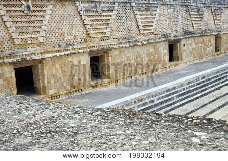 Part of the Quadrangle of the Nuns in Uxmal Mexico