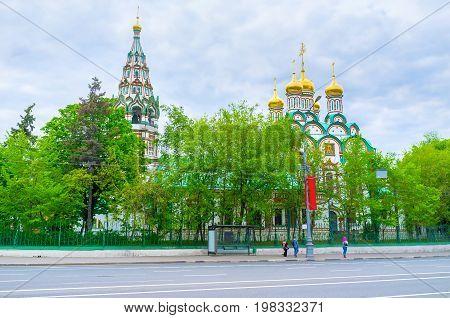 The Beautiful Church Of St. Nicholas In Khamovniki