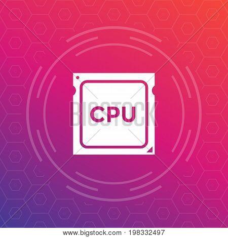 CPU, processor vector icon, eps 10 file, easy to edit