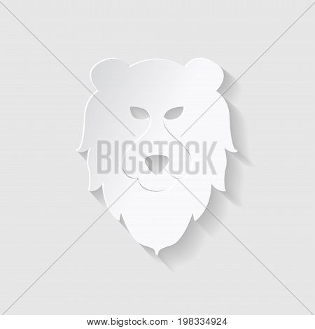 Horoscope paper cut style. Concept for Leo. Vector illustration.
