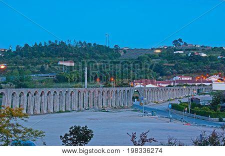 The Aqueduct Of Obidos