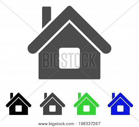 Home flat vector pictogram. Colored home, gray, black, blue, green icon versions. Flat icon style for graphic design.