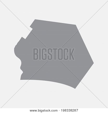 Canberra city map in gray on a white background