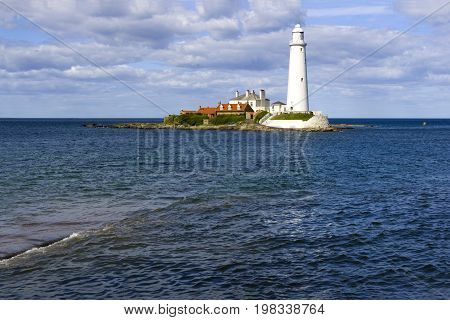 St Marys Lighthouse Near Whitley Bay and accessed at low tide by a causeway. Now a small nature reserve.