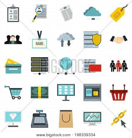 Safe deposit icons set. Cartoon set of 25 safe deposit vector icons for web isolated on white background