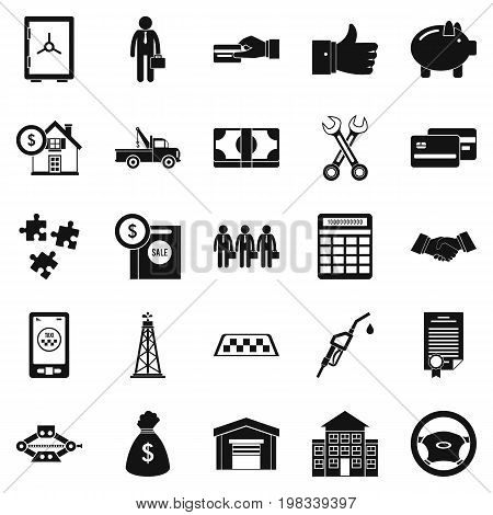 Merchant icons set. Simple set of 25 merchant vector icons for web isolated on white background