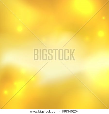 Yellow abstract background with light spots and stars. Honey color.