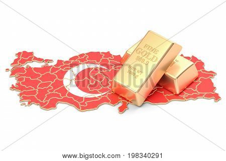 Foreign-exchange reserves of Turkey concept 3D rendering isolated on white background