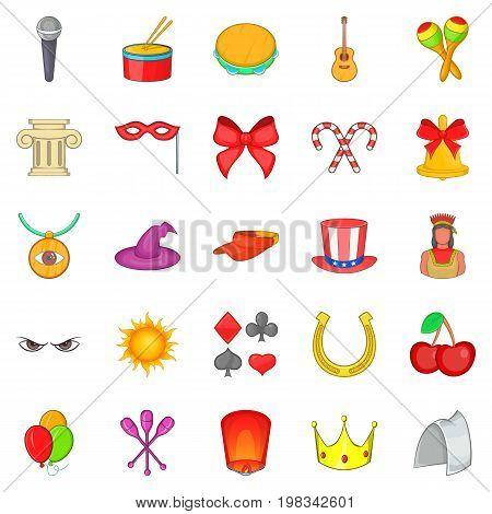 Joy icons set. Cartoon set of 25 joy vector icons for web isolated on white background