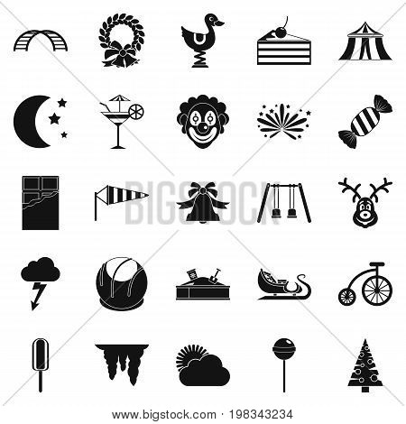 Courtyard icons set. Simple set of 25 courtyard vector icons for web isolated on white background