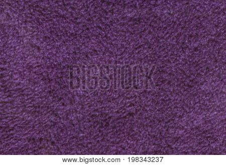 Purple double sided terry towelling fabric texture background