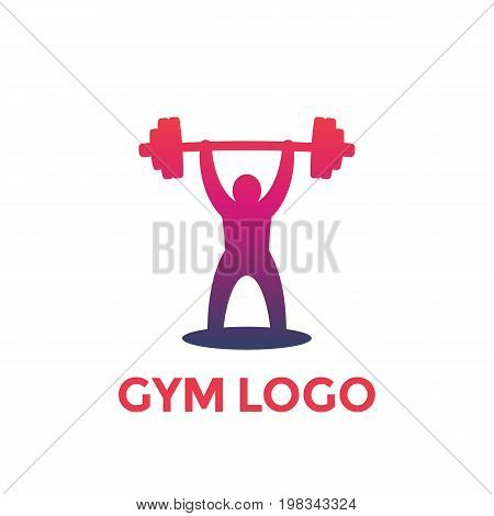 weightlifting vector logo element, eps 10 file, easy to edit