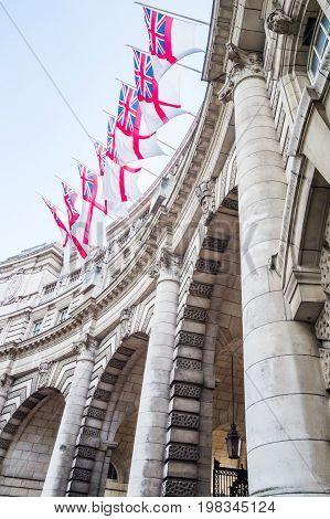 London British flag Union Jack Admiralty Arch