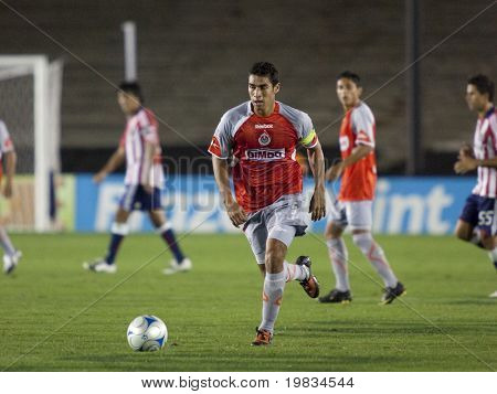PASADENA, CA. - SEPTEMBER 23: Patricio Araujo in action during the Chivas USA vs. Chivas de Guadalajara exhibition match at the Rose Bowl September 23, 2009 in Pasadena.