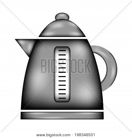 Electric kettle sign icon on white background. Vector illustration.