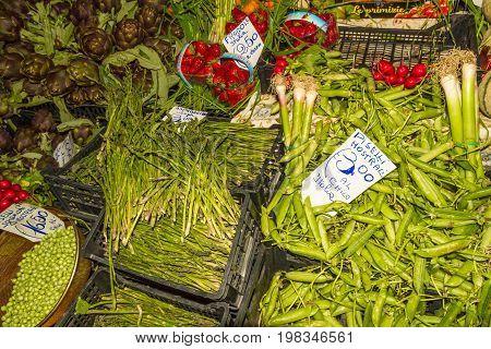 Italian Vegetable Market Stall