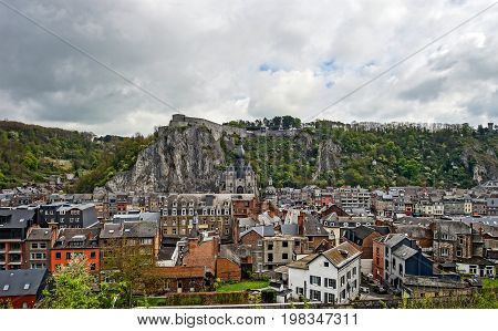 Dinant Architectural View, Spring Cloudy Day