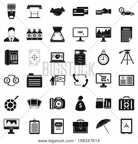 Department icons set. Simple style of 36 department vector icons for web isolated on white background