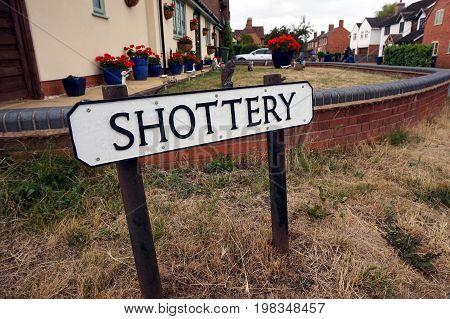 Stratford-upon-avon, Uk - July 21 2017: Street Name Sign Saying