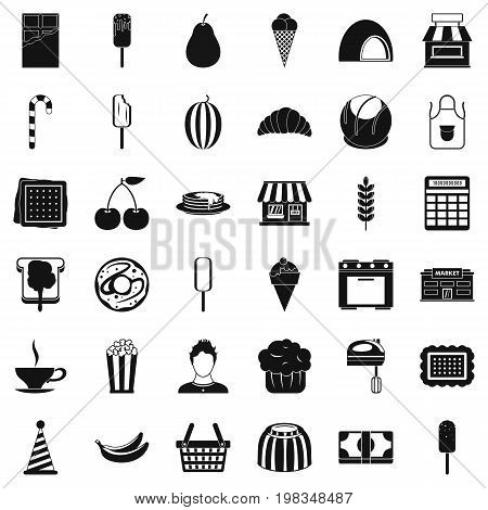 Good dessert icons set. Simple style of 36 good dessert vector icons for web isolated on white background