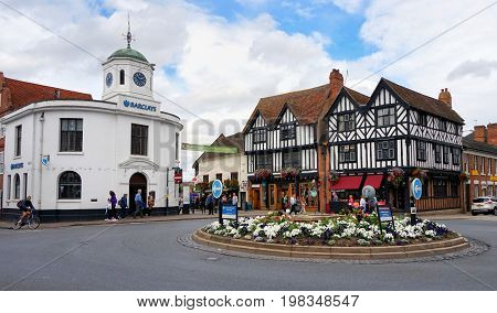 Stratford-upon-avon, Uk - July 21 2017: Old Barclays Bank, A Grade Ii Listed  Building, And Iconic T