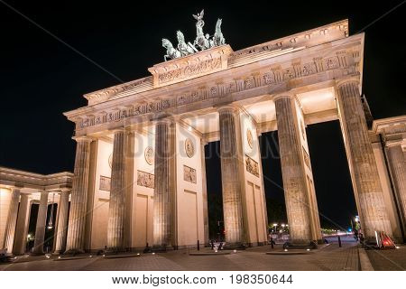 Berlin, Brandenburger Tor At Night - Brandenburg Gate