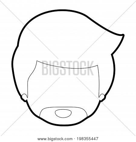 sketch silhouette of caricature faceless man with van dyke beard vector illustration
