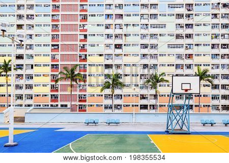 Choi Hung is one of the oldest public housing estates in Hong Kong. Located in the Wong Tai Sin District of Kowloon, the old apartments were built in the early 1960s. Hong Kong is one of the world's most densely populated countries poster