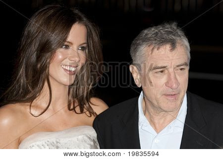 HOLLYWOOD, CA. - NOVEMBER 3: Kate Beckinsale (L) and Robert De Niro (R) attend the AFI Fest premier of Everybody's Fine on November 3, 2009 at The  Grauman's Chinese Theater in Hollywood.