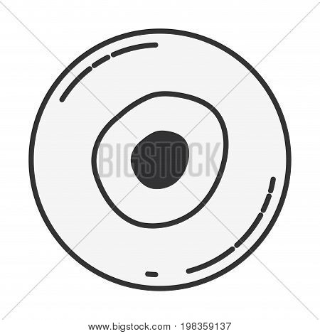 sketch silhouette of front view ovum vector illustration