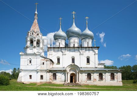 Cathedral of the Exaltation of the Holy Cross on a sunny July day. Tutaev, Russia