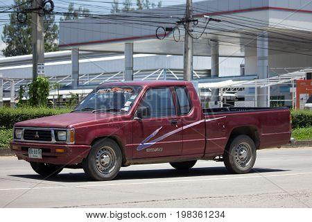 Private Old Pickup Car, Mitsubishi Cyclone.