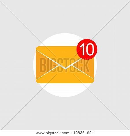 Social media. Message notifications icon concept. Inbox messages.