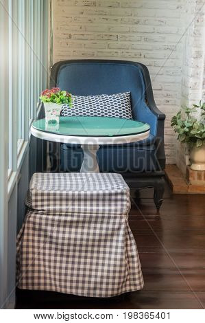 Vintage country house interior decoration stock photo