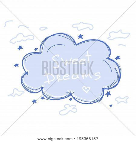 Cartoon cloud with the phrase Sweet Dreams