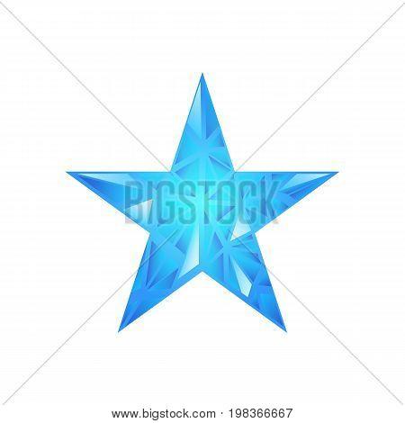 Polygonal Star Vector Background