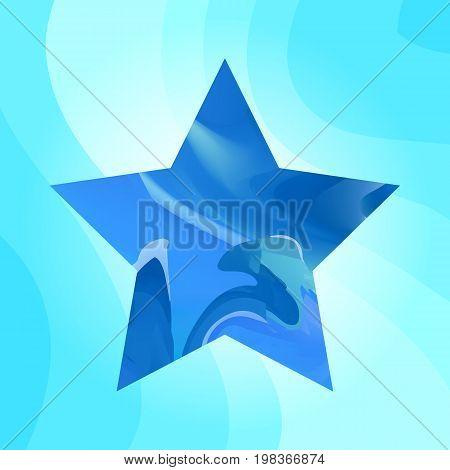 Blue Star Vector Background