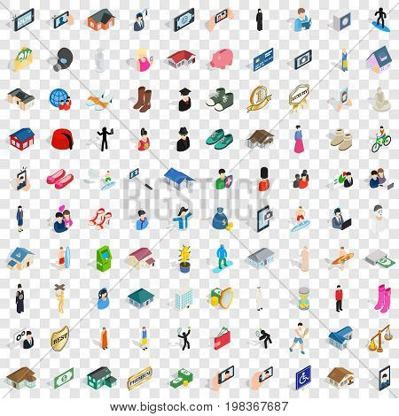 100 couple icons set in isometric 3d style for any design vector illustration