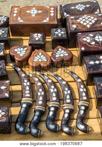 Turkish Style Daggers With Mother Of Pearl Inlays