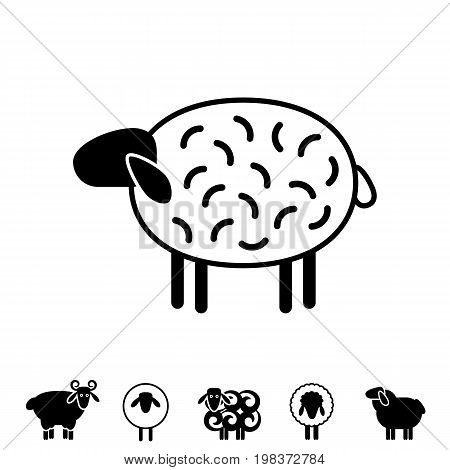 Sheep Or Ram Icon, Logo, Template, Pictogram
