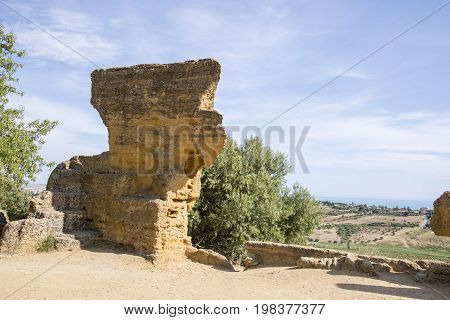 The Arcosoli Bizantini Valley of the Temples Agrigento Sicily Italy - May 22nd 2017